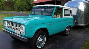 blue bronco car thumbs up honking u0026 waving