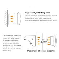 magnetic cabinet locks no drill safety magnetic cabinet locks no drilling required 4 locks 1key