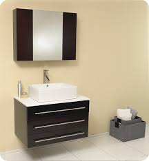 Furniture Bathroom Vanity by Modello 32 Inch Espresso Modern Bathroom Vanity With Medicine