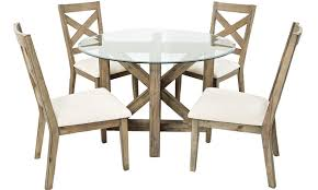 Wood Dining Chairs Hampton Cottage Solid Acacia U0026 Glass Dining Set Haynes Furniture