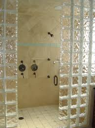 bathroom decoration glorious glass block divider bathroom shower