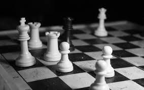 chess black and white wallpaper