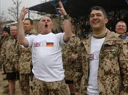 German British Flag German And British Soldiers In Afghanistan Re Enacted The