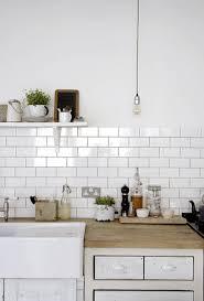 White Kitchen Brick Tiles - victoria metro wall tiles gloss white 20 x 10cm white wall