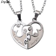 wholesale love necklace images I love you couples lover pendant men and women necklaces wholesale jpg