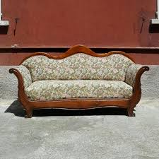 antique walnut sofa with floral fabric 1820s for sale at pamono