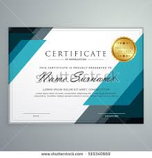 stylish certificate appreciation award design template imagem