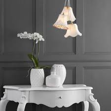 cl on light bulb shade 3 light floral shade cluster cream from litecraft