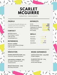 What Is Visual Resume Resume Templates Canva