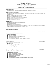 server resume exles resume sle server experience new fanciful server resume sle 14