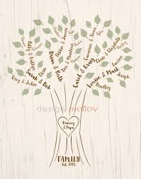 brush family tree typed names design 8x10 or 8 5x11 design