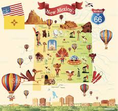 Route 66 New Mexico Map by Albuquerque New Mexico Clip Art Vector Images U0026 Illustrations