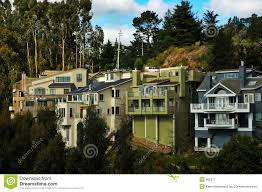 hillside homes in california royalty free stock photography