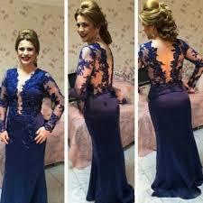 online shop plus size royal blue formal evening dress long sleeves