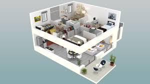 chambre en 3d plan maison simple 4 chambres 3d plan maison