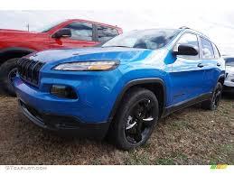 hydro blue jeep 2017 hydro blue pearl jeep cherokee sport 118061093 gtcarlot