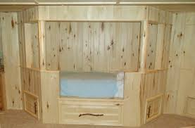 Built In Bedroom Furniture Bedroom Nice Natural Look Oak Unfinished Built In Beds With