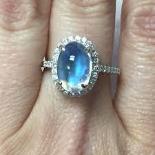 moonstone engagement rings blue moonstone diamond ring breski jewelry