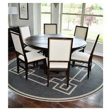 round dining table with six chairs hudson 60 round dining table and six chairs upholstered in neutral