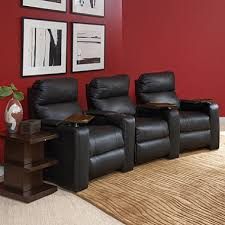 lane furniture enzo leather home theater seating 3 piece set