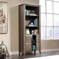 Espresso Bookcase With Doors White Bookshelf With Glass Doors Glass Door Bookcase Cabinet