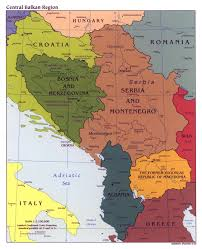 Map Of Central Europe by Large Political Map Of Central Balkan Region With Major Cities