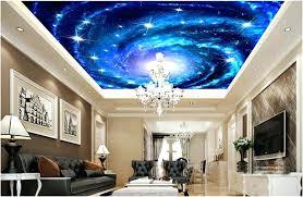 Room Decor Wallpaper Charming Galaxy Starry Night Ceiling