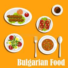 cuisine bulgare plats nutritifs de dîner de cuisine bulgare illustration de