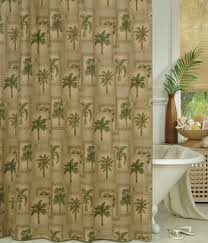 palm grove tropical shower curtain
