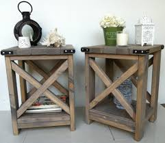 rustic end tables cheap rustic accent table house decorations
