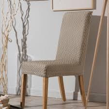 housses de chaises extensibles housse de chaise bi extensible unie effet gauffré marine