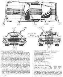 1968 mustang dimensions mustang race stripe measurements mustang mods le