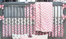 Pink Chevron Crib Bedding Chevron Baby Crib Bedding Zig Zag Nursery Decor