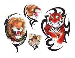 tiger and tribal from itattooz