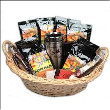 crafted tea and coffee gift basket with gourmet biscotti