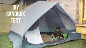 Sandboxes With Canopy And Cover by Diy Sandbox Tent Youtube