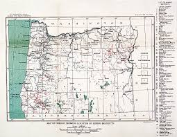 Eastern Oregon Map by Oregon Mining Districts