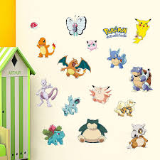 Pokemon Go Wall Stickers Nursery Boys Room Wall Decals - Stickers for kids room