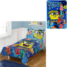 Spongebob Bedding Sets Bonus Blanket With Nickelodeon Spongebob 4pc Toddler Bedding Set