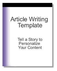 article writing template tell a story to personalize your content