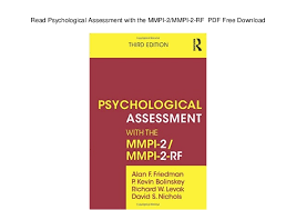read psychological assessment with the mmpi 2 mmpi 2 rf pdf free dow