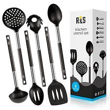 best cooking tools and gadgets kitchen utensil 6 best kitchen utensils set black nylon cooking