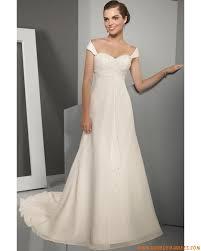 robe empire mariage robe de mariée empire mousseline cristal robes de mariée