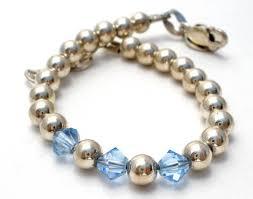 sterling bead bracelet images Adjustable infant sterling silver bead bracelet emily ray the JPG