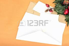 new years envelopes new years letter and white and beige envelopes stock photo