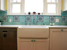 antique kitchen style ideas with white beveled arabesque tile simple kitchen with blue ceramic moroccan style tile backsplash blue cabinet door knobs and