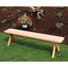 Western Red Cedar Outdoor Furniture outdoor a u0026 l furniture western red cedar crossleg backless bench