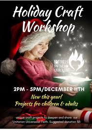 holiday craft workshop foothills unitarian church