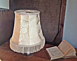 Vintage Table Lamp Shades Lamp Shade Fringe Etsy