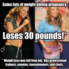 Pregnancy Hormones Meme - gains lots of weight during pregnancy loses 30 pounds weight